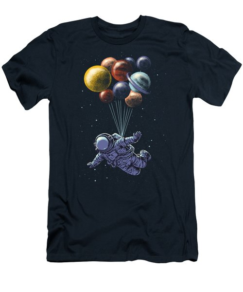 Space Travel Men's T-Shirt (Athletic Fit)