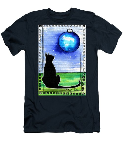 Sparkling Blue Bauble - Christmas Cat Men's T-Shirt (Athletic Fit)