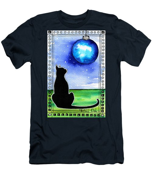 Sparkling Blue Bauble - Christmas Cat Men's T-Shirt (Athletic Fit)