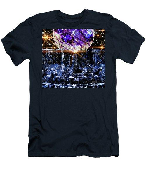 Sparkling Glass Men's T-Shirt (Athletic Fit)