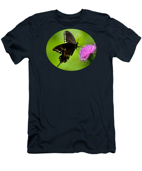 Men's T-Shirt (Athletic Fit) featuring the photograph Spicebush Swallowtail Butterfly by Christina Rollo