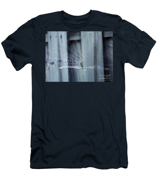 Men's T-Shirt (Slim Fit) featuring the photograph Spider Web by Megan Dirsa-DuBois