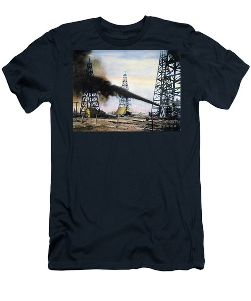 Spindletop Oil Pool, C1906 Men's T-Shirt (Athletic Fit)