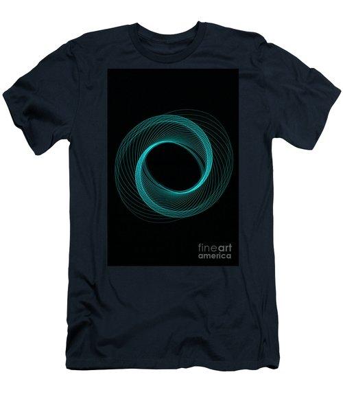 Spiral Aqua  Men's T-Shirt (Athletic Fit)
