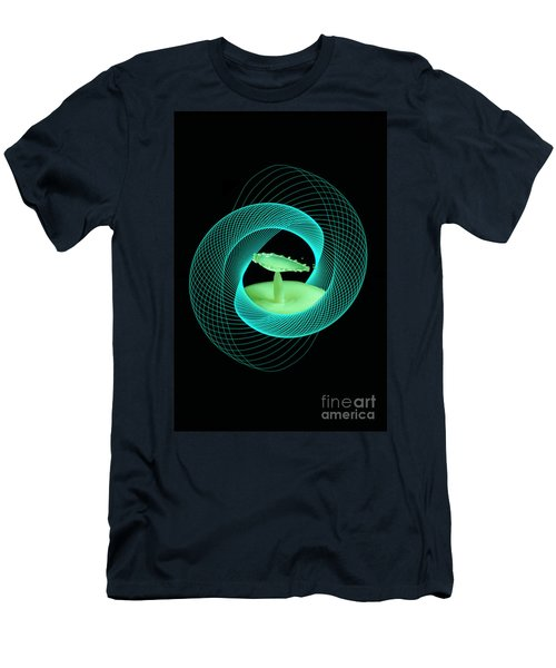 Spirograph Water Drop Men's T-Shirt (Athletic Fit)
