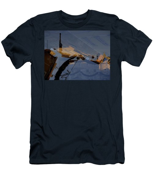 Split Roofs Men's T-Shirt (Slim Fit) by Danica Radman