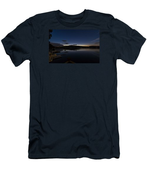 Men's T-Shirt (Slim Fit) featuring the photograph Spofford Lake Dawn by Tom Singleton