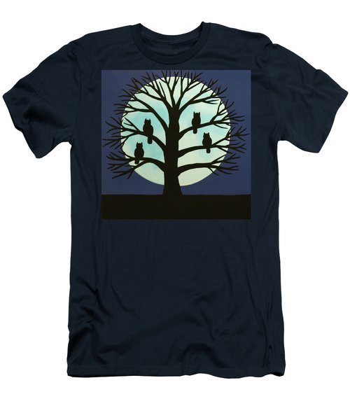 Spooky Owl Tree Men's T-Shirt (Athletic Fit)
