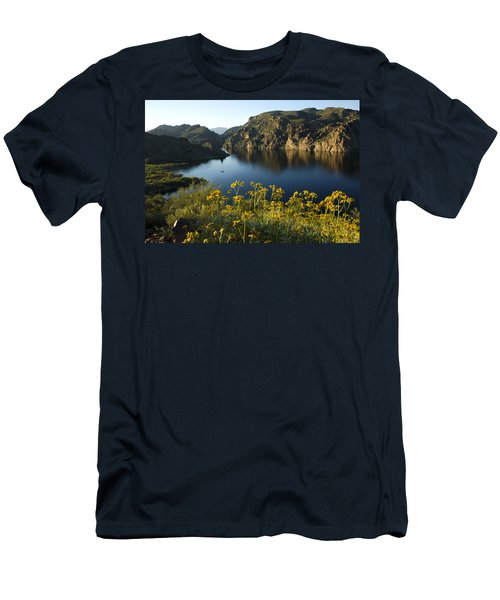 Spring Morning At The Lake Men's T-Shirt (Slim Fit) by Sue Cullumber