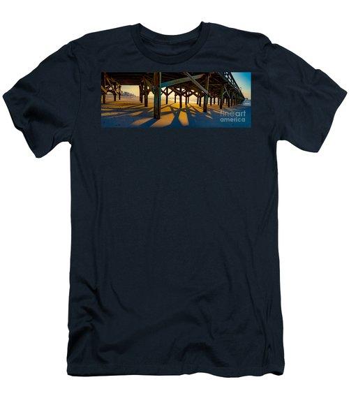 Springmaid Pier At Sunrise Men's T-Shirt (Athletic Fit)