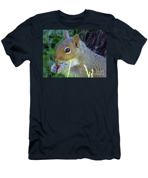 Squirrel Eating Men's T-Shirt (Athletic Fit)