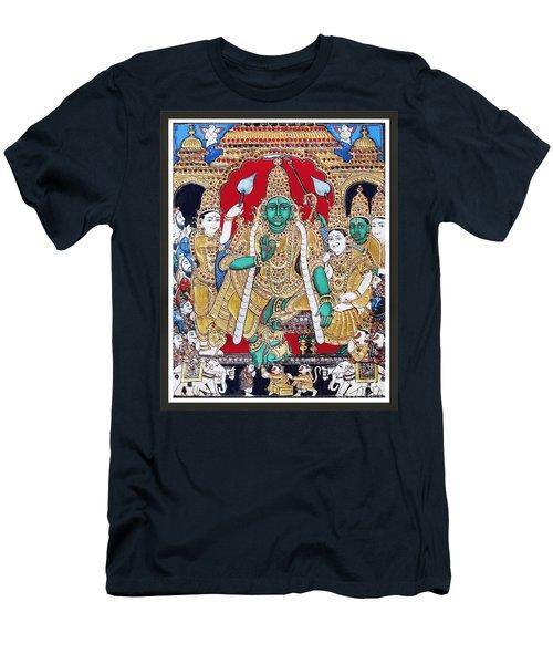 Sri Ramar Pattabhishekam Men's T-Shirt (Slim Fit) by Ragunath Venkatraman