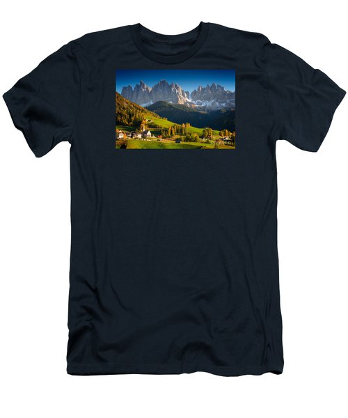 St. Magdalena Alpine Village In Autumn Men's T-Shirt (Athletic Fit)