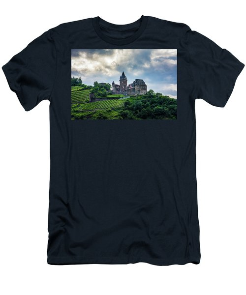 Men's T-Shirt (Slim Fit) featuring the photograph Stahleck Castle by David Morefield