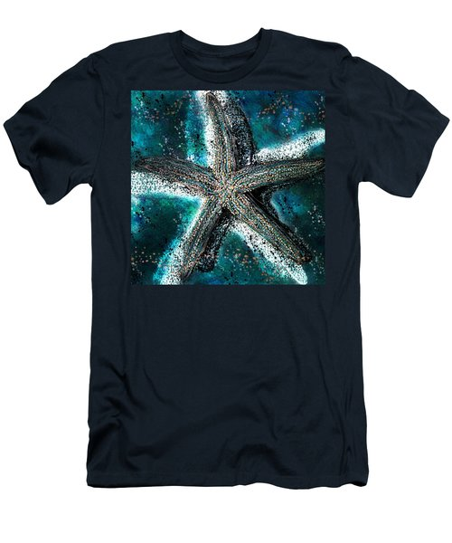Starfish Ocean Deep Men's T-Shirt (Slim Fit) by Barbara Chichester