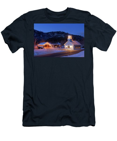Men's T-Shirt (Slim Fit) featuring the photograph Stark New Hampshire by Robert Clifford