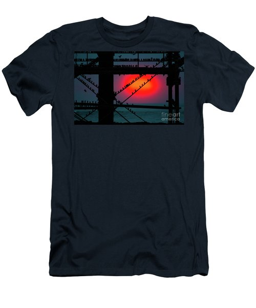 Starlings Against The Setting Sun Men's T-Shirt (Athletic Fit)