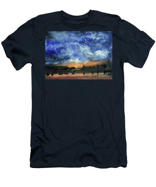 Starry Night Across Our Lake Men's T-Shirt (Athletic Fit)