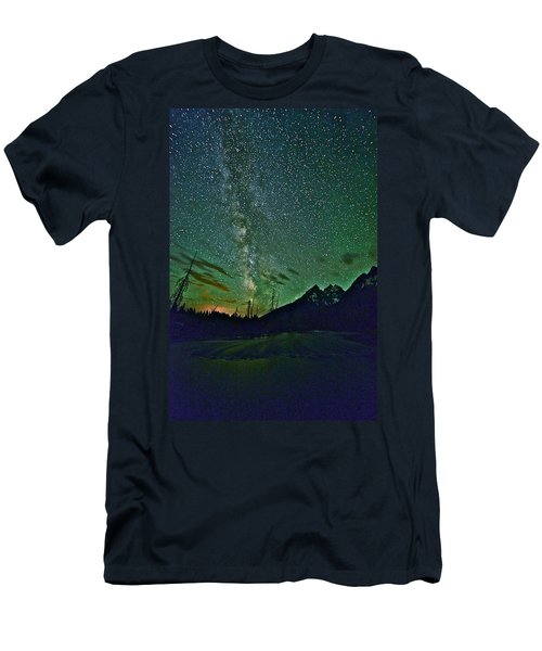 Starry Night Over The Tetons Men's T-Shirt (Athletic Fit)