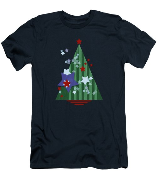 Stars And Stripes - Christmas Edition Men's T-Shirt (Slim Fit) by AugenWerk Susann Serfezi
