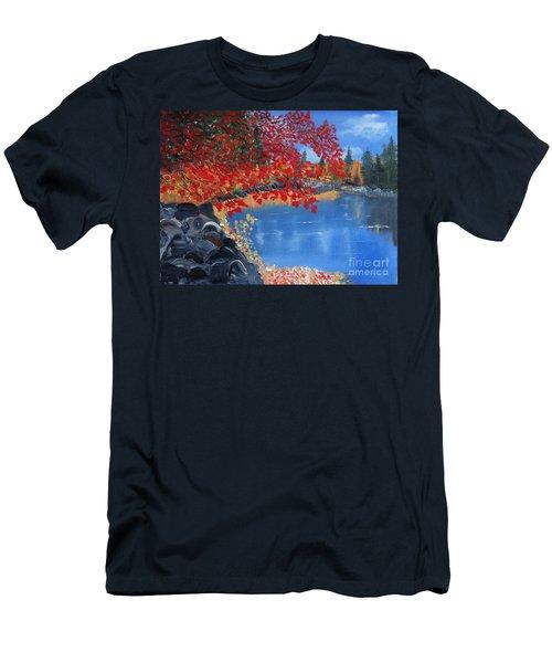 Start Of Fall Men's T-Shirt (Slim Fit) by Rod Jellison