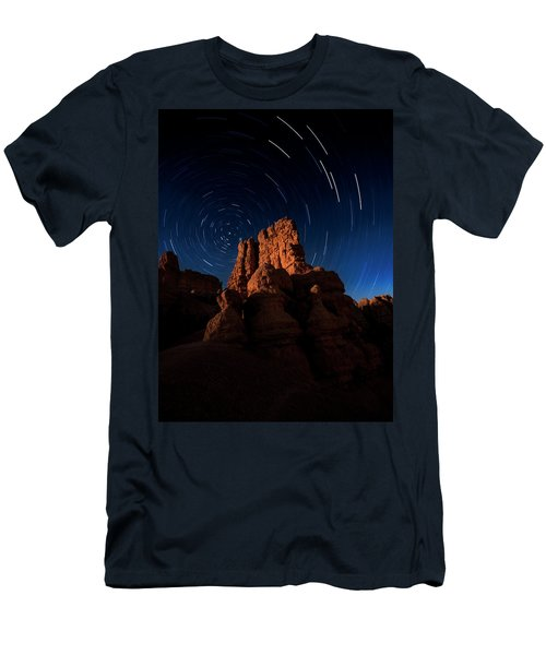 Men's T-Shirt (Athletic Fit) featuring the photograph Stary Trails At Red Canyon by Edgars Erglis