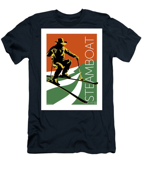 Men's T-Shirt (Athletic Fit) featuring the digital art Steamboat Orange by Sam Brennan