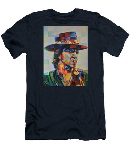 Stevie Ray Vaughan Men's T-Shirt (Slim Fit) by Steve Hunter