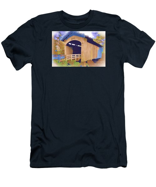Stewart Bridge In Watercolor Men's T-Shirt (Athletic Fit)
