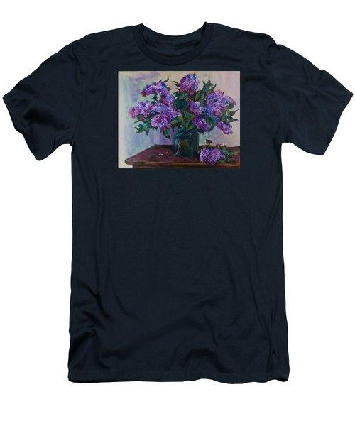 Still Life With Lilac  Men's T-Shirt (Slim Fit) by Maxim Komissarchik