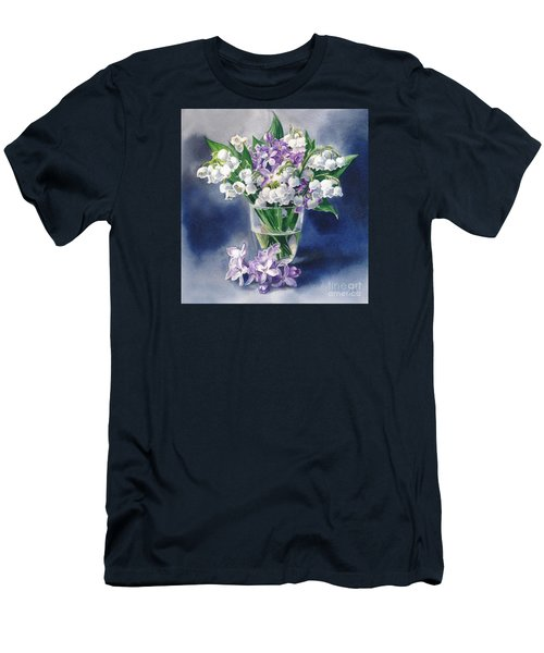 Still Life With Lilacs And Lilies Of The Valley Men's T-Shirt (Slim Fit) by Sergey Lukashin