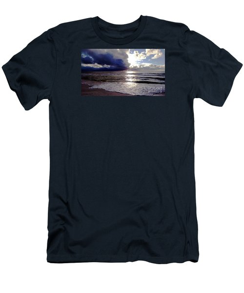Men's T-Shirt (Slim Fit) featuring the photograph Storm Clouds 1 by Vicky Tarcau