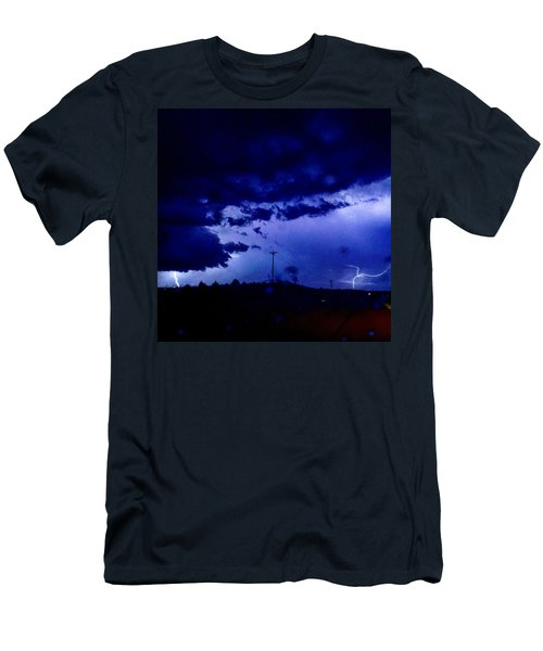 Storm On Farmer's Turnpike Men's T-Shirt (Athletic Fit)