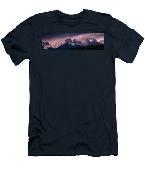 Men's T-Shirt (Slim Fit) featuring the photograph Storm On The Peaks by Andrew Matwijec