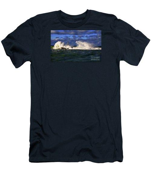 Storm Surf Batters Breakwater Men's T-Shirt (Athletic Fit)