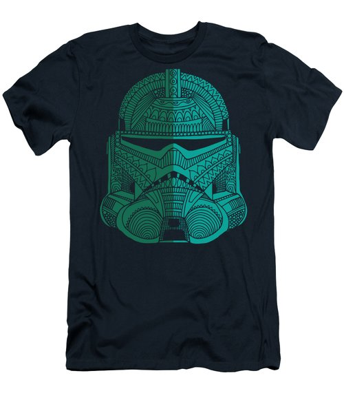 Stormtrooper Helmet - Star Wars Art - Blue Green Men's T-Shirt (Athletic Fit)