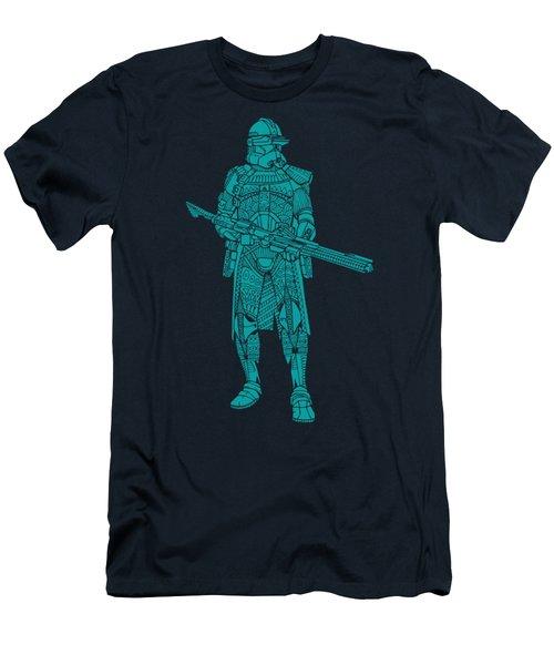 Stormtrooper Samurai - Star Wars Art - Blue 03 Men's T-Shirt (Athletic Fit)