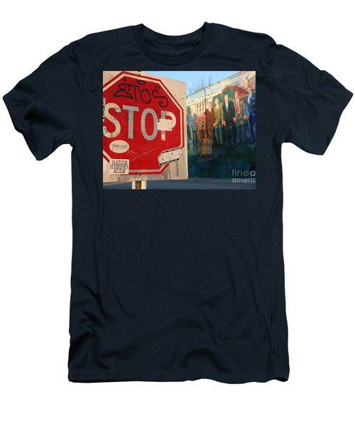 Street Art Washington D.c.  Men's T-Shirt (Slim Fit) by Clay Cofer