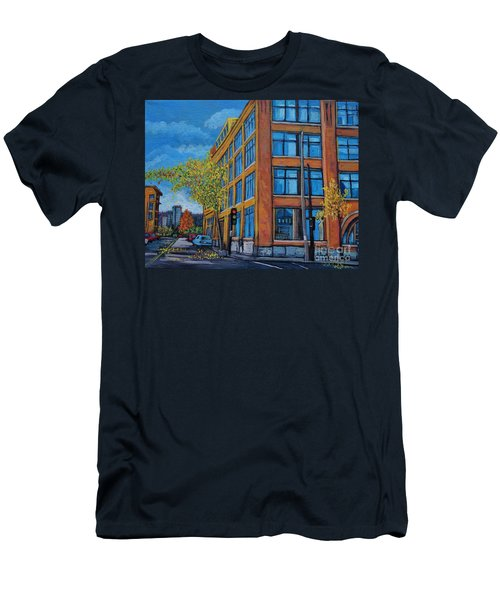 Street Study Montreal Men's T-Shirt (Slim Fit) by Reb Frost