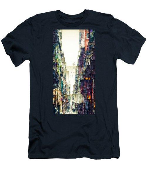 Streetscape 1 Men's T-Shirt (Slim Fit) by David Hansen