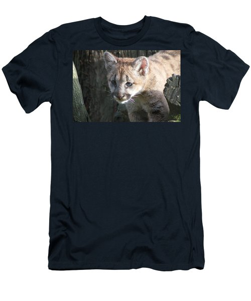 Men's T-Shirt (Slim Fit) featuring the photograph Studying The Ways by Laddie Halupa