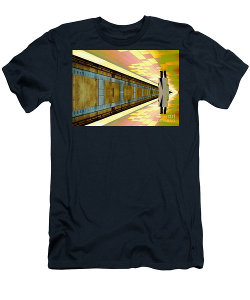 Subway Man Men's T-Shirt (Athletic Fit)