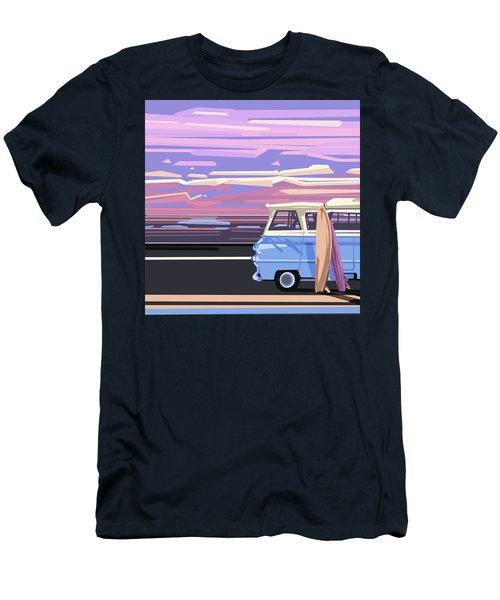 Summer Men's T-Shirt (Slim Fit) by Bekim Art