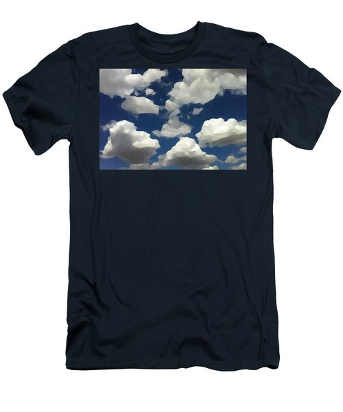 Summer Clouds In A Blue Sky Men's T-Shirt (Athletic Fit)