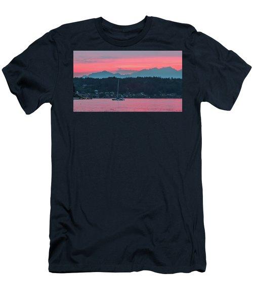 Summer Sunset Over Yukon Harbor.5 Men's T-Shirt (Athletic Fit)