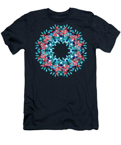 Summer Wreath Men's T-Shirt (Slim Fit) by Mary Machare