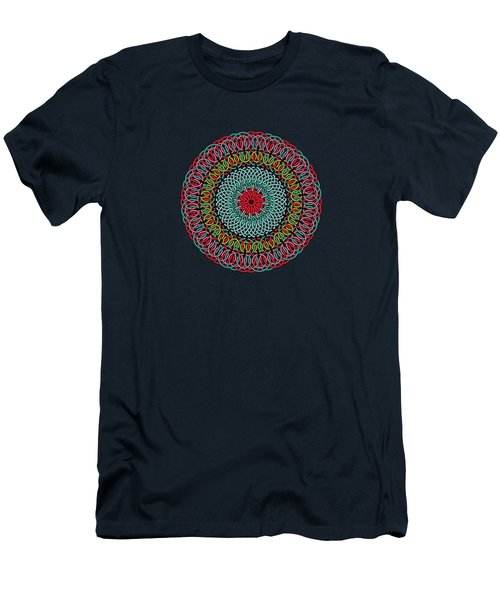 Sunflower Mandala Men's T-Shirt (Athletic Fit)