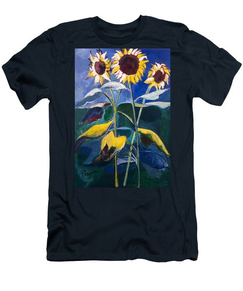 Sunflowers Standing Tall Men's T-Shirt (Slim Fit) by Betty Pieper