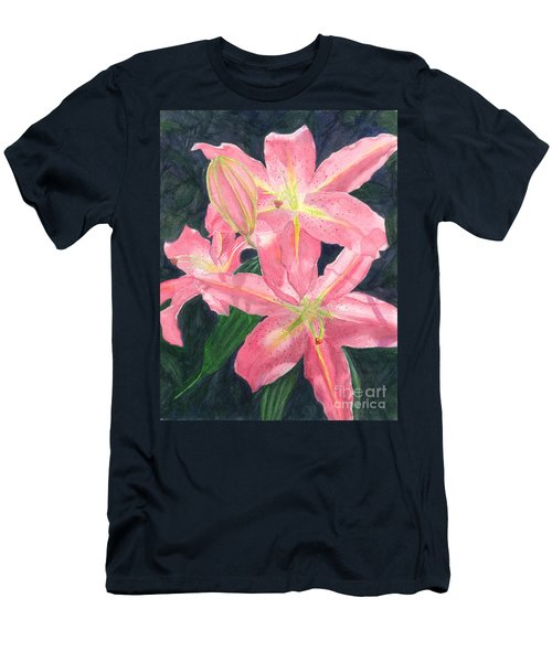 Sunlit Lilies Men's T-Shirt (Athletic Fit)