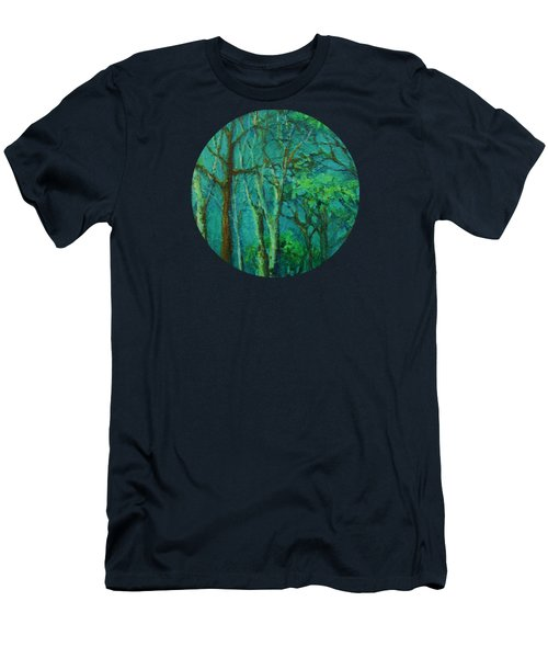 Sunlit Woodland Path Men's T-Shirt (Athletic Fit)